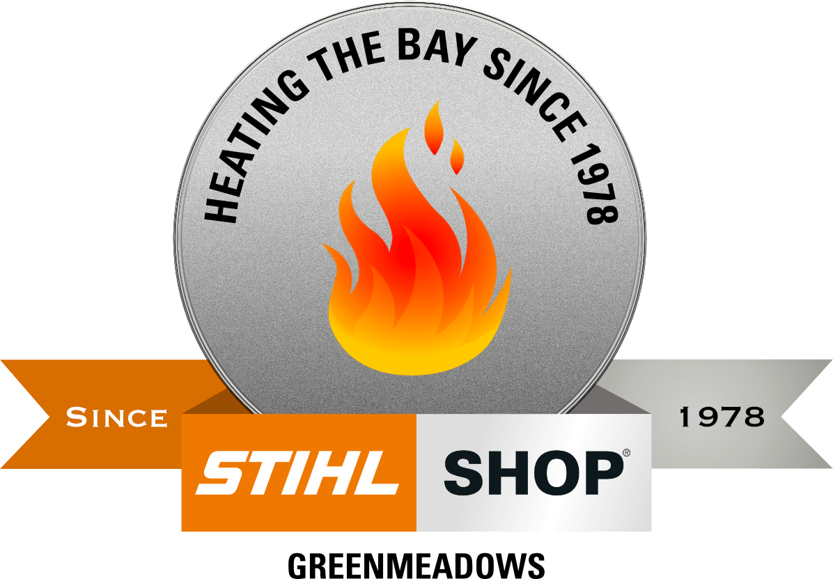 Stihl Shop Greenmeadows 'Heating the Bay for 40 Years' Badge